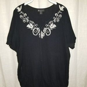 Gauze blouse with embroidery